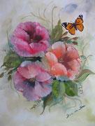 La Farfalla e i Fiori - Olio su pannello telato - 50x40 - 2011 (Collezione Privata)