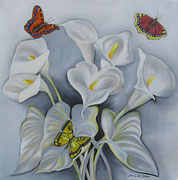 La luce delle Farfalle - Olio su tela - 50x50 - 2010 (Collezione Privata)