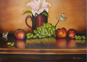 Natura morta con Farfalla e lumaca - Olio su tela - 50x70 - 2013