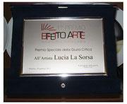 Targa Premio speciale della Giuria critica al 1° Premio Effetto Arte