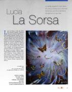Pagina dedicata a Lucia La Sorsa sulla Rivista OverArt Marzo-Aprile 2013
