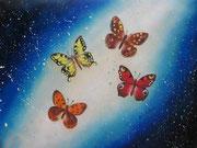 La Galassia delle Farfalle 2 - Olio su tela - 45x60 - 2014 (Collezione privata)