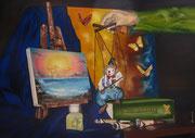Artisti o Burattini - Olio su tela - 80x120 - 2014