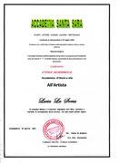 Titolo Accademico d'Onore a vita Accademia Santa Sara
