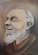 Il sorriso di Padre Pio - Olio su tela - 50x35 - 2011