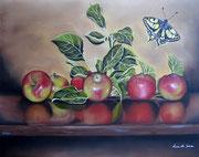 Le meline di zia Maria - Olio su pannello telato - 40x50 - 2012