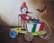 Pinocchio e la Farfalla - Olio su Tela - 40x50 - 2011
