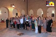 Foto di gruppo degli amici presenti alla Personale