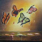 Lacrime di Farfalle - Olio su tela - 30x30 - 2010