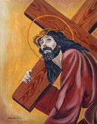 La Cascata (Statua della Processione dei Misteri) - Olio su tela - 50x40 - 2008