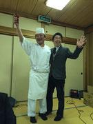 料理長さん(会員)と会長