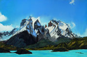 """""""Torres del paine"""" Pastell 38x40cm (c)D.Saul 2014, Ref. C.Berger"""