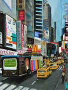 """Times Square South"", Pastell,60x80cm,(c)D.Saul 2011,New York,Ref. M.Gutsche"