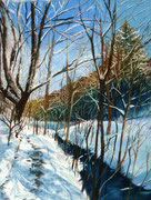 """""""Winter Path II"""", Pastell UART 400, 30x40cm, Terry Ludwig Softpastelle, (C) D.Saul 2018"""