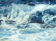 """Shorebreak"" Pastell, 30x40cm, UART 400, Terry Ludwig,Unison softpastels (C)D.Saul 2020,PRIVATE COLLECTION"