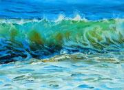 """""""Caribbean wave"""" Pastell, 39x29cm, (c) D.Saul 2014 Ref. D.Schulz"""