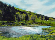 """""""Bearslake in may"""",Pastell 29x39cm,(c) D.Saul 2014"""