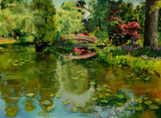 """Lotus pond"" 23x29cm, Pastell 3.Platz Get Dusty Competition 9/2017, (C) D.Saul Ref. Regine Jäger"