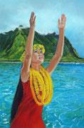 """Aloha"" Pastell 50x70cm, (C) D. Saul 2015"