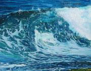 """"""" Surfs Up"""" Pastell, 40x50cm, (C) D. Saul 2021"""