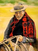 """Carlos"" Pastell 29x39cm,(c)D.Saul 2014"