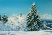 """""""Cold morning"""" Pastell, 26x38,5cm, Mi Teintes Touch, Sennelier, (C) 2014"""