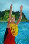 """Aloha"" Pastell 40x60cm, (C) D.Saul 2016, Ref. J. Beaufort, SOLD"