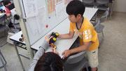 微調整が面白い!ロボット教室の醍醐味。