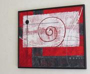 colimaçon - vue côté. tableau abstrait. abstraction