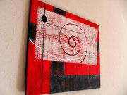colimaçon - vue côté1. tableau abstrait. abstraction