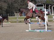 Entrainement de saut d'obstacle !