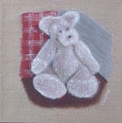 """""""Ours en peluche"""" - acrylique - 30 x 30 cm"""