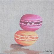 """""""Duo de macarons"""" - acrylique - 20 x 20 cm"""