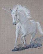 """La licorne"" - acrylique - 40 x 50 cm"
