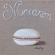 """""""Macaron choco-vanille"""" - acrylique - 20 x 20 cm"""