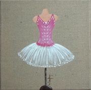 """""""Tutu"""" - acrylique - 20 x 20 cm"""