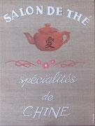 """""""Salon de thé"""" - acrylique - 30 x 40 cm"""