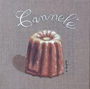 """""""Cannelé"""" - acrylique - 20 x 20 cm"""