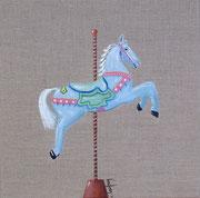 """""""Cheval de manège"""" - acrylique - 30 x 30 cm"""