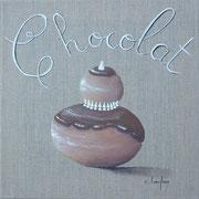 """""""Religieuse chocolat"""" - acrylique - 20 x 20 cm"""