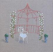 """""""Gloriette"""" - acrylique - 30 x 30 cm"""