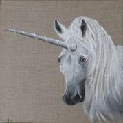 """""""Licorne"""" - acrylique - 40 x 40 cm"""