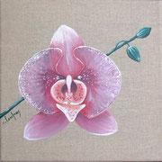 """""""Pivoine"""" - acrylique - 20 x 20 cm"""