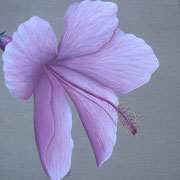 """Grand hibiscus"" - acrylique - 50 x 50 cm"