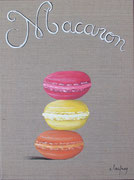 """""""Trio de macarons"""" - acrylique - 30 x 40 cm"""