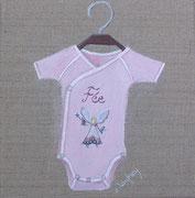 """Body fée"" - acrylique - 20 x 20 cm"