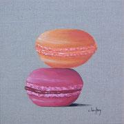 """""""Duo de macarons"""" - acrylique - 30 x 30 cm"""