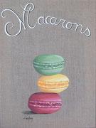 """Macarons"" - acrylique - 30 x 40 cm"