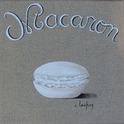 """Macaron coco"" - acrylique - 20 x 20 cm"