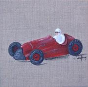 """""""Voiture de course"""" - acrylique - 20 x 20 cm"""